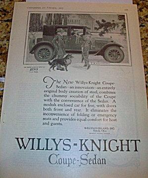 F X Leyendecker Car Ad Willys Knight Sedan Collie Illustration
