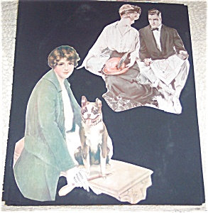 French Bulldog Terrier Victorian Scrapbook Page Print