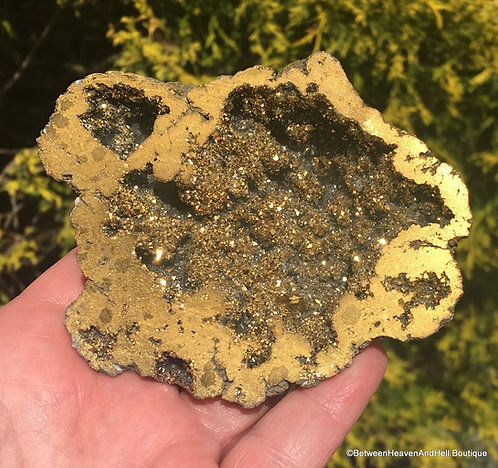 "3.75"" Large Gold Titanium Aura Druzy Quartz Crystal Charging Bowl Manifestation"