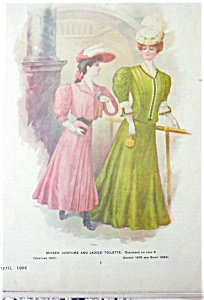 Antique & Vintage Prints Fashion Ads Dresses Gowns 1906