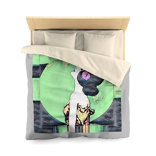 Spiritual Bedroom Decor Full Moon Starlight Microfiber Duvet Cover BOHO Chic Bed