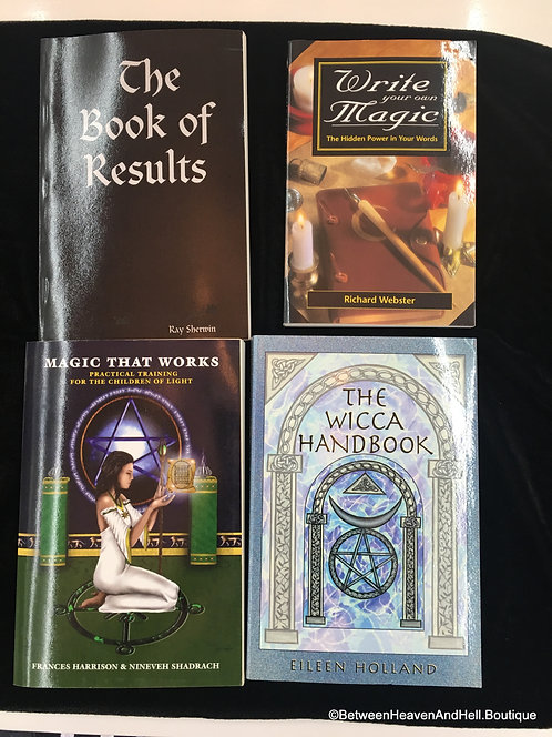 4 Books on Wicca Witchcraft Magick Spellwork Spellcasting, Metaphysical books
