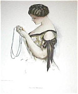 Harrison Fisher Print: Victorian Lady With Locket