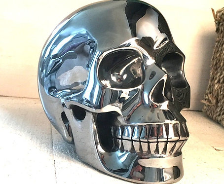 "Very Rare Large 5.1"" TeraHertz Crystal Skull - Life Ray Realistic Carving"