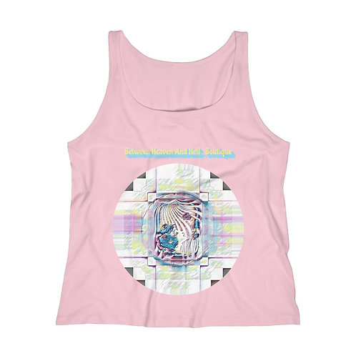 Boho Summer fashion Trippy Psychedelic Relaxed Jersey Tank Top Beachy Apparel