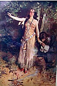Art Print Indian Maiden Pocahontas Howard Chandler Christy