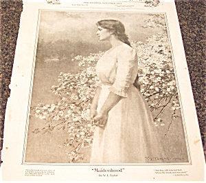 W.l Taylor Illustration Maidenhood Ladies Home Journal 1904