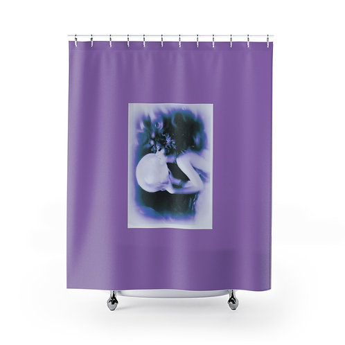Shower Curtains Purple Mermaid under water Art Between Heaven and Hell Boutique