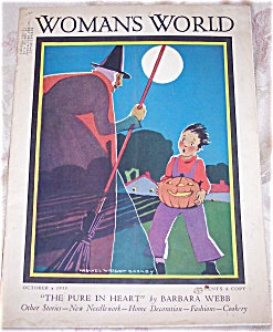 Womens World Magazine: Halloween , Witch, Pumpkin : Barney