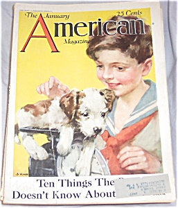 J Knowles Hare American Magazine Cover Art Puppy & Boy