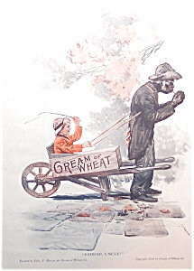 Vintage Cream Of Wheat Ads: Edward Brewer Illustration Print