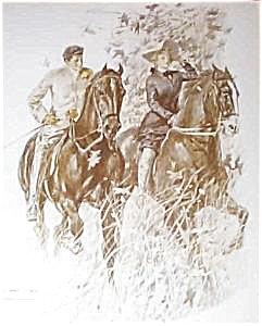 Vintage Victorian Equestrian Prints: Henry Hut, Horseback Riding