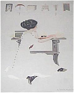 1911 Vintage Coles Phillips Fade Away Girl Print