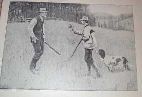 Antique AB Frost Hunting Vintage Print Conciliator
