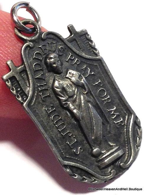 Vintage Saint Jude Medal Pray for Me Men's Ladies Religious Jewelry