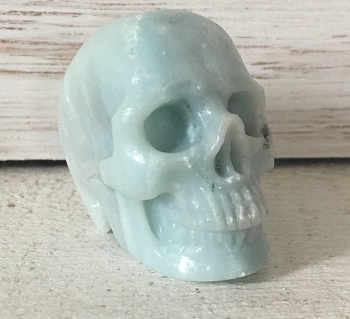 Activated Amazonite Crystal Skull Automatic Writing Psychic Ability