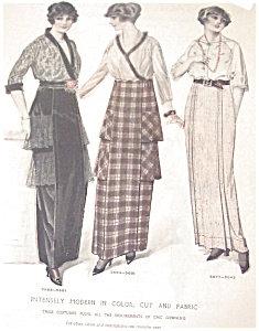 Vintage Ladies Fashion Illustration: Modern Dresses