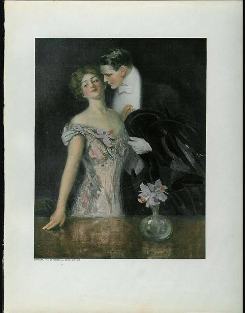 1910 Antique Print Romance & Couples Clarence Underwood Art