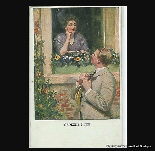 German Artsist Signed Postcard Clarence Underwood Romance