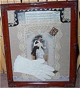 Shabby Victorian Chic Print Fabric assemblage Collage Dancing Romance