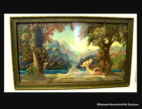 R. Atkinson Fox Love's Paradise Art Deco Framed Print 1920's