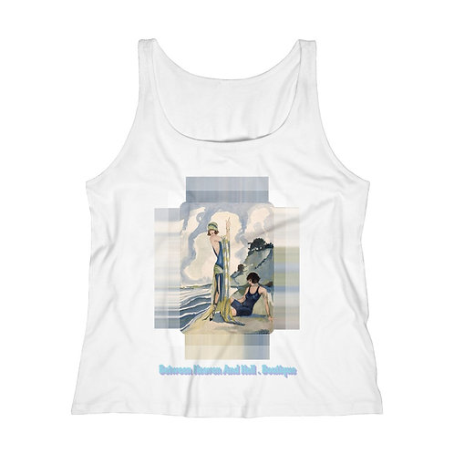 Wearable Art Relaxed Jersey Tank Top A Day at the Beach Reg & Plus Size Shirts