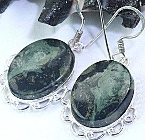 Jasper Drop Earrings Sterling Silver