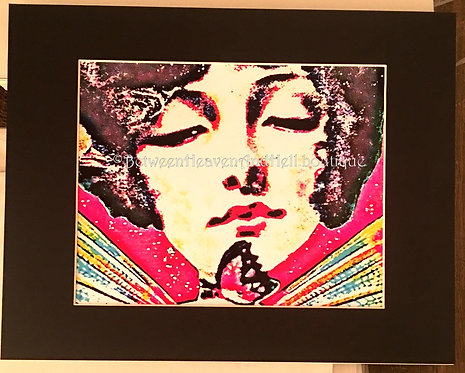 BOHO Chic Giclee Print Art Deco Lady Butterfly 11x14 Between Heaven & hell