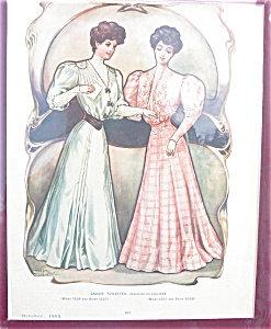 Antique & Vintage Prints Fashion Ads-toilettes