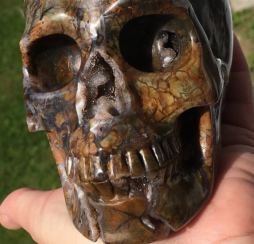 Large Pietersite Crystal Skull - Blessings from Heaven, Archangel Uriel, Gabriel
