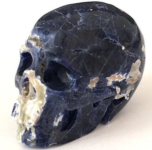 Activated Sodalite Crystal Skull Psychic Energy Generator Spirit Guide Contact