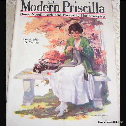 Modern Priscilla Magazine Complete WWl Red Cross Nurse Cover Art