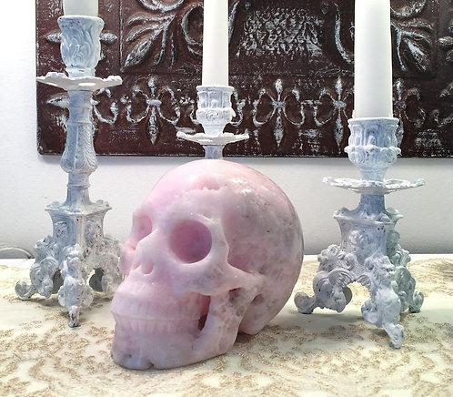 Large Druzy Pink Aragonite Crystal Skull Master Activated Angels Spirit Guides