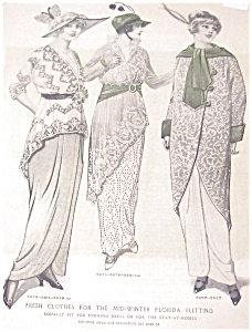 Vintage Ladies Fashion Illustration: Mid Winter