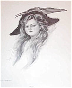 Harrison Fisher Print-peggy 1908