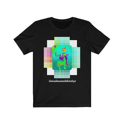 Psychedelic Moonlight Maiden Shirt Short Sleeve Tee LIFE Full Moon