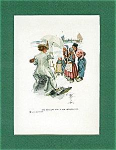 Dutch Children: Harrison Fisher Original Art Print: Netherlands