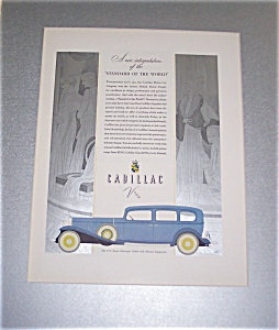 Vintage Print Cadillac Advertising Car Ads Illustrations