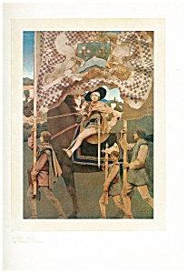 Vintage Art Maxfield Parrish Print Dies Ire 1914