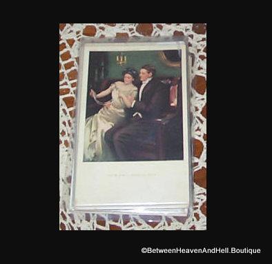 1908 Artist Signed Postcard Clarence Underwood Wedding Gift Romance