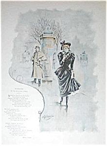 Victorian City Scene Poem 1893 Illustration Ehrhart