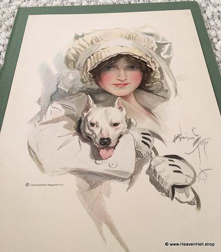Antique Vintage Dog Art Prints: Harrison Fisher Pit Bull Terrier