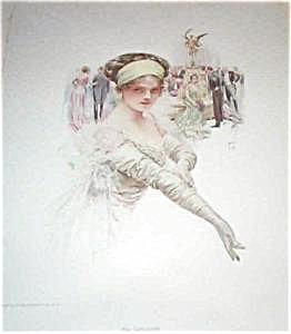 Harrison Fisher Rpint-the Debutante 1910
