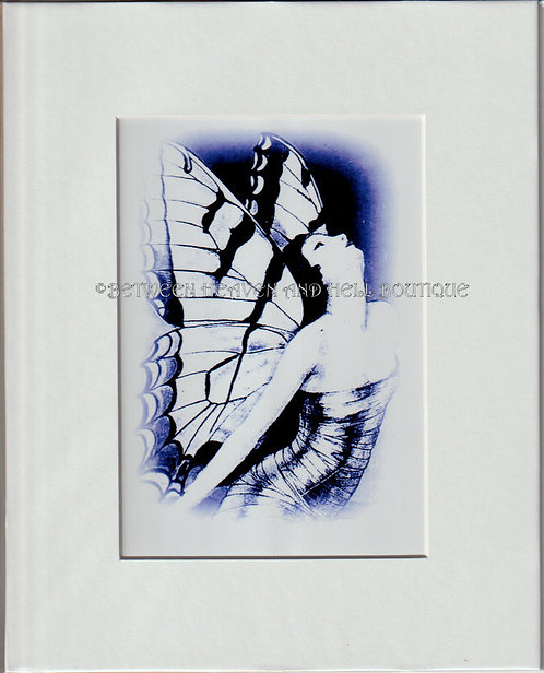 8x10 Spiritual giclee Print New Beginnings Art Deco Lady Butterfly Boho Chic