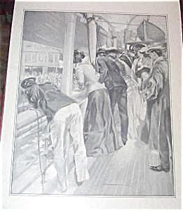 George Wright Print On Their Honeymoon Cruise Ship