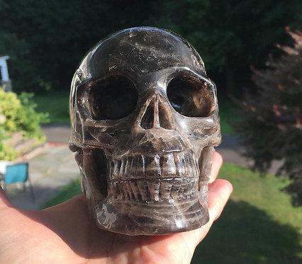"5.1"" Activated Master Entity Addison Smoky Quartz Crystal Skull"