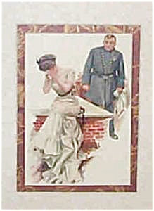 Harrison Fisher Print Lady And Policeman Police Officer