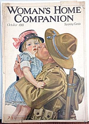 Antique Magazine Cover: Fx Leyendecker Wwi Soldier Daughter