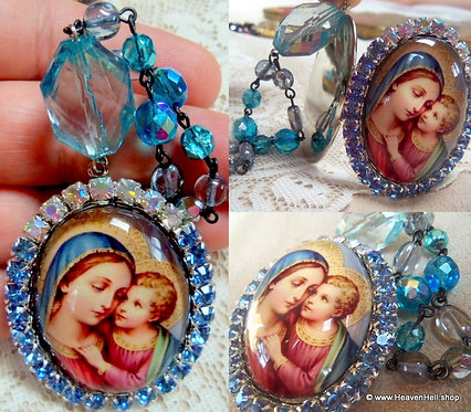 Virgin Mary Jesus God Box Special Request Prayer Beads Icon