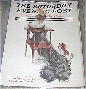 1909 Harrison Fisher Cover Vintage Saturday Evening Post Magazine